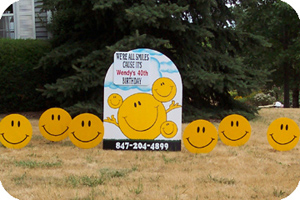 Welcome Lawn Sign Rentals Oversized Birthday Cards Banners A Frames ...