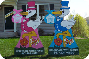 Stork Signs For Your Yard New Baby Announcement